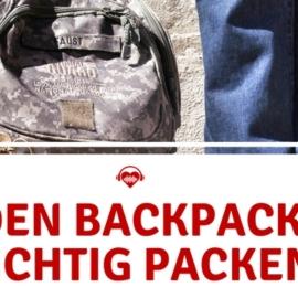 Wie packe ich meinen Festival Rucksack richtig?