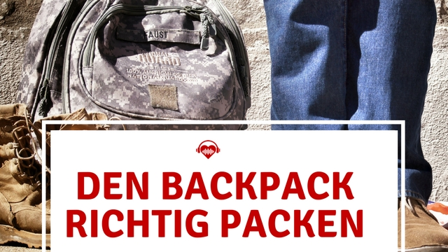 Den Backpack richtig packen