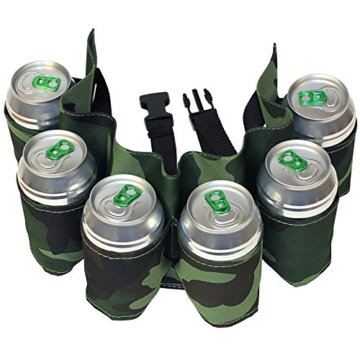 6-Pack Bier Guertel, Bier Holster, Camouflage Grun