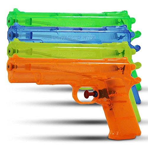 6 x kleine Wasserpistolen - verschiedene Farben