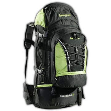 AspenSport Rucksack Expedition - schwarz/grün - 50x38x23 cm - 70 Liter
