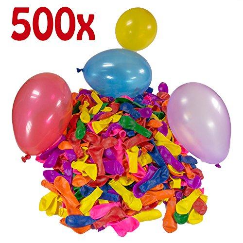 500 Wasserbomben Mega-Pack in Rot/Gelb/Lila/Blau/Orange/Pink/Grün