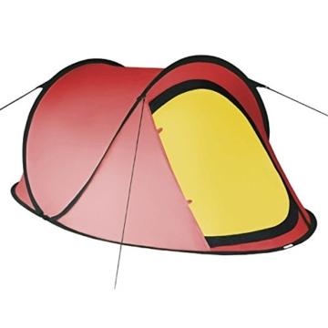 Pop-Up Zelt JUMP SUITE für 2 Personen von BB Sport Wassersäule 3000, Farbe:rot/gelb