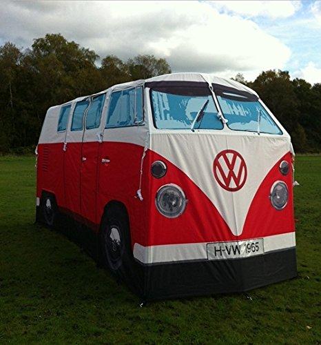 retro vw bus camper zelt 1 1 nachbildung rot festival lover. Black Bedroom Furniture Sets. Home Design Ideas