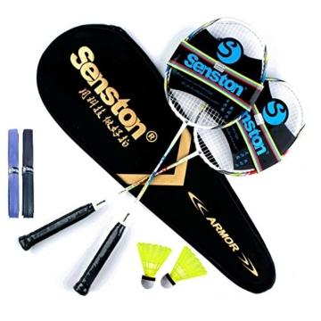 Badmintonschläger-Set mit Schlägertasche - 2 Farben