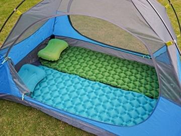 Hikenture Camping Isomatte Kleines Packmaß Ultraleichte Aufblasbare Isomatte - Sleeping Pad für Camping, Reise, Outdoor, Wandern, Strand (Grün) - 7