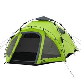 Sekundenzelt Qeedo - 3 Personen Zelt mit Quick-Up-System - grün