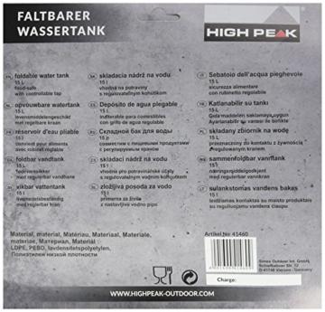 High Peak Wassertank faltbar 15L, transparent, 25 x 25 x 12 cm, 41460 - 1