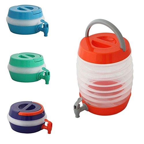 Megaprom Universal 5,5 Liter Faltbarer Camping Wasserkanister Platzsparender Wasserbehälter Wassertank Mobiler Faltkanister mit Auslaufhahn - 1