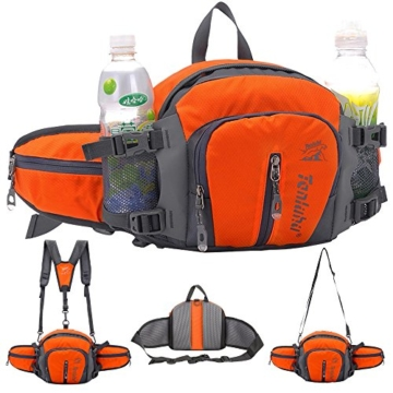 SINOKAL multifunktionale Canvas-Pack Gürteltasche im Militärstil (Orange)